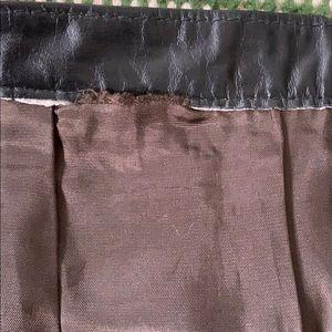 Vintage Skirts - Vintage leather high rise skirt
